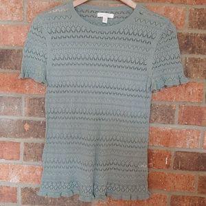 🎠2X$32🎠LC Lauren Conrad Crochet Top Blouse SMALL